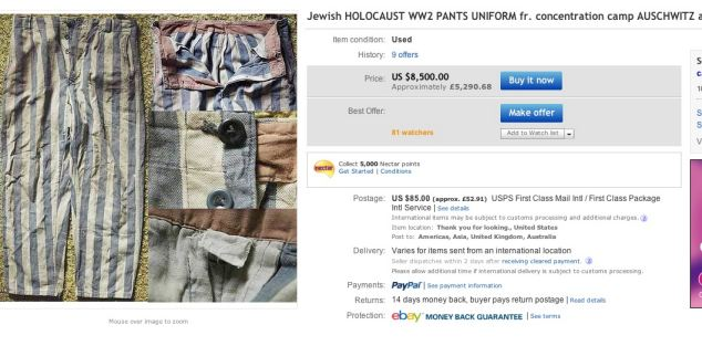 The Ethical Issues of Ebay Selling Holocaust Memorabilia