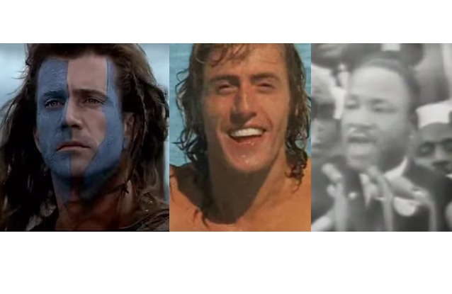 Celebrate Passover with Braveheart, Roger Daltry and Martin Luther King, Jr.