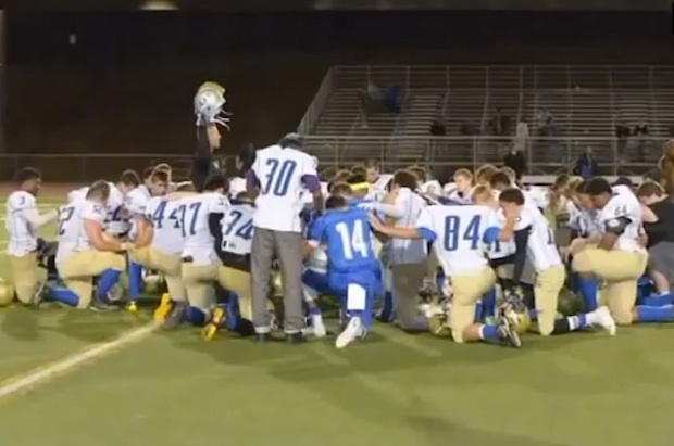 Should a Public School Coach Be Praying With Players?